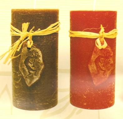 Dekorační svíčka Etno válec čoko