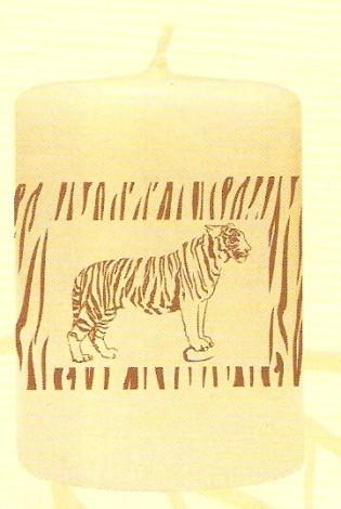 Svíčka válec tygr - sada 6 ks